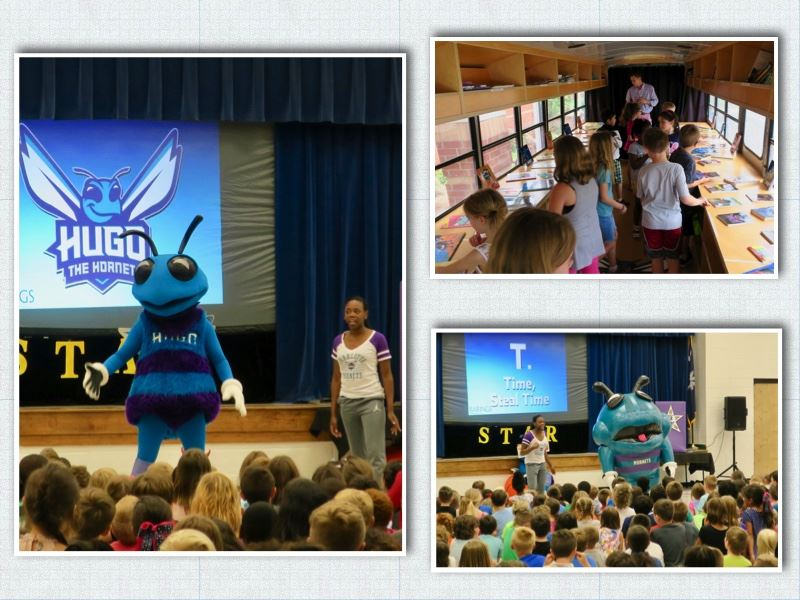 Hugo and the Hornets Book Bus Pays a Visit