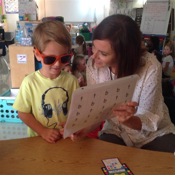 "Working on literacy skills is so much more fun when you wear your ""reading"" glasses!"