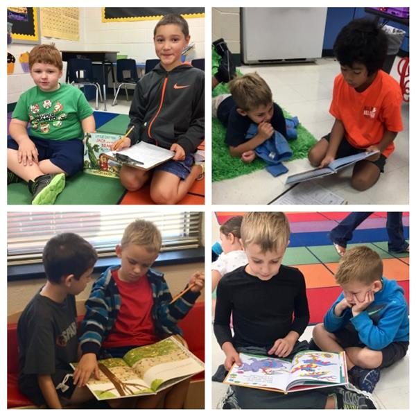 Ms. Kaplan's and Ms. Cardino's students have become great book buddies!