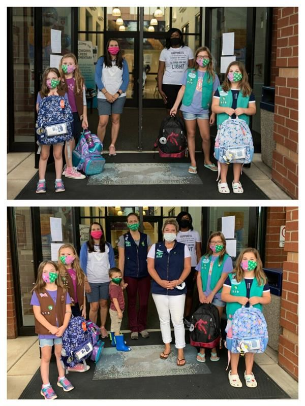 Girl Scouts Deliver School Supplies