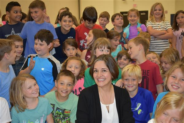Award Winning Author Visits CCE