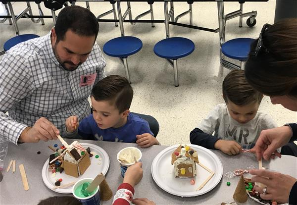 CCE Students Build Gingerbread Houses