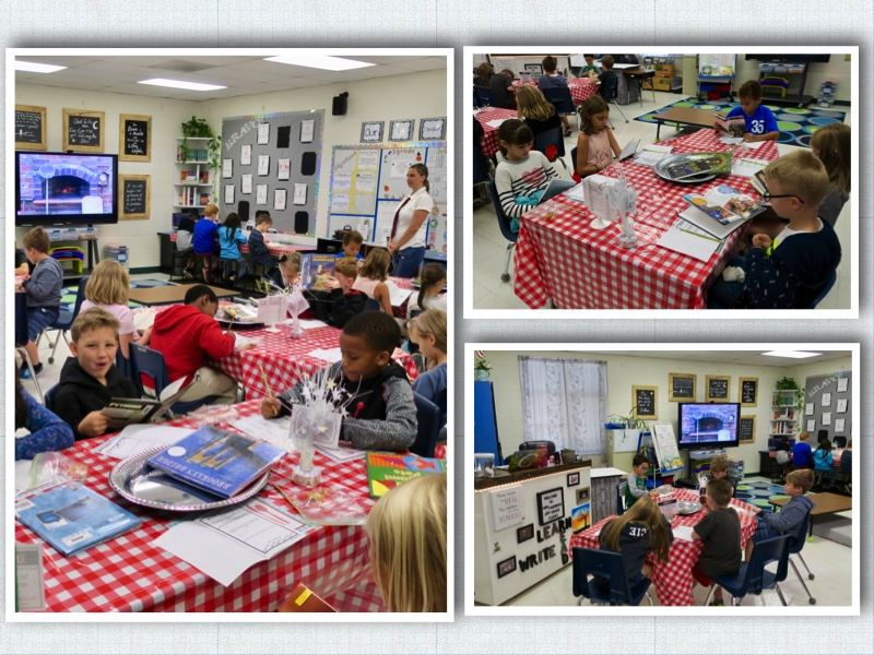 Ms. Cardino's 3rd Grade Class Enjoys a Delicious Book Tasting.