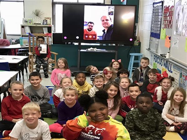 Ms. Balton's 1st grade class FaceTimed with a friend in Germany.  They had a great time learning about the culture and language of people living there.