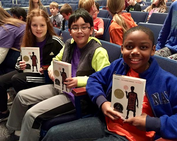 CCE Fifth Graders See Award Winning Author