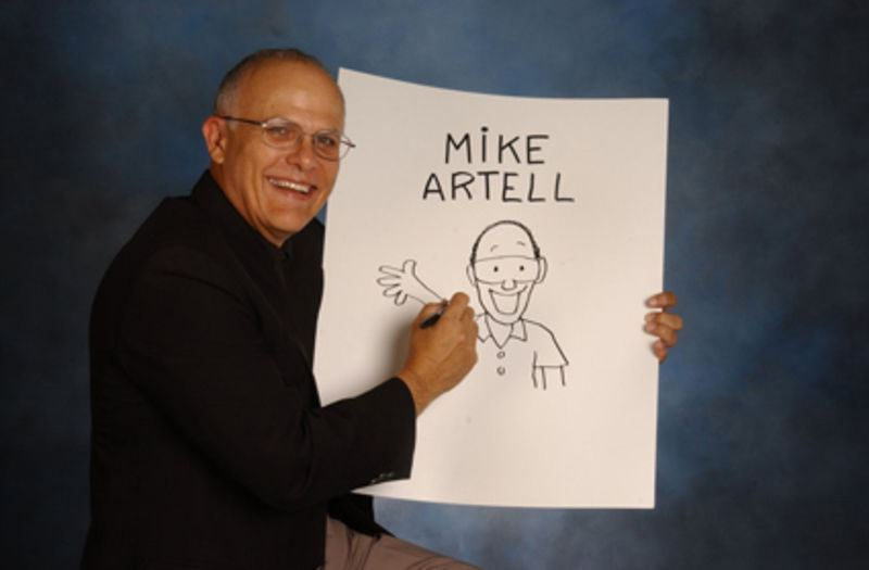 Mike Artell, children's author and cartoonist, visits Larne!