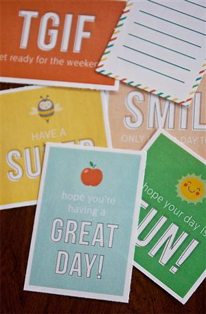 Download & Print these FUN Lunchbox Notes!