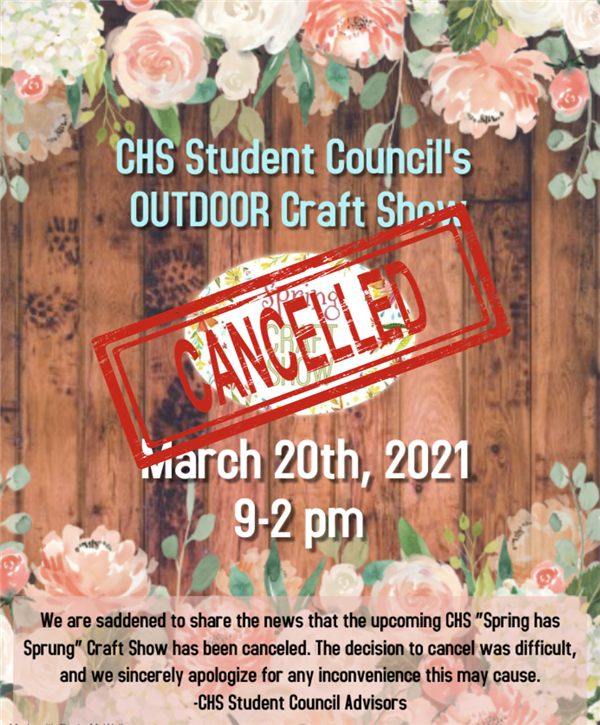 CHS Craft Show Cancellation