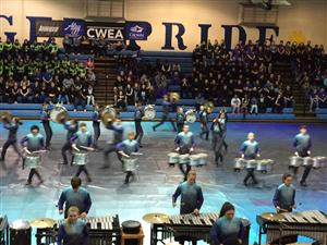 CHS Drumline and Winterguard Tops in Competitions