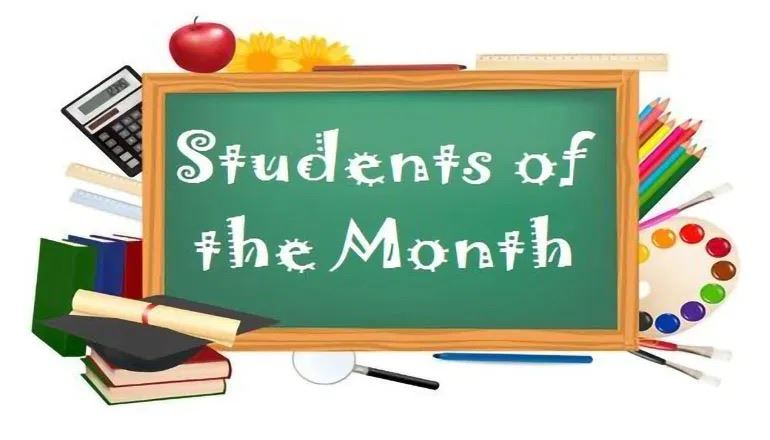 Students of the Month for December