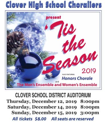 CLOVER HIGH CHORAL DEPARTMENT PRESENTS 'TIS THE SEASON