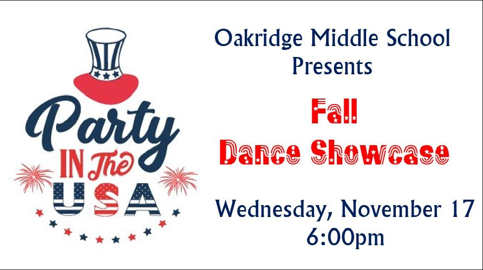 OAKRIDGE MIDDLE SCHOOL WINTER DANCE SHOWCASE