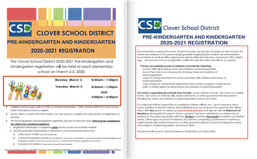 CSD Kindergarten Registration