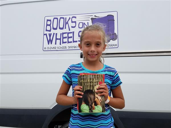 Jolie Brooks Recognized as Books on Wheels'  Top Reader