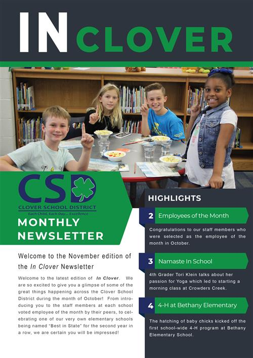 In Clover Newsletter Cover