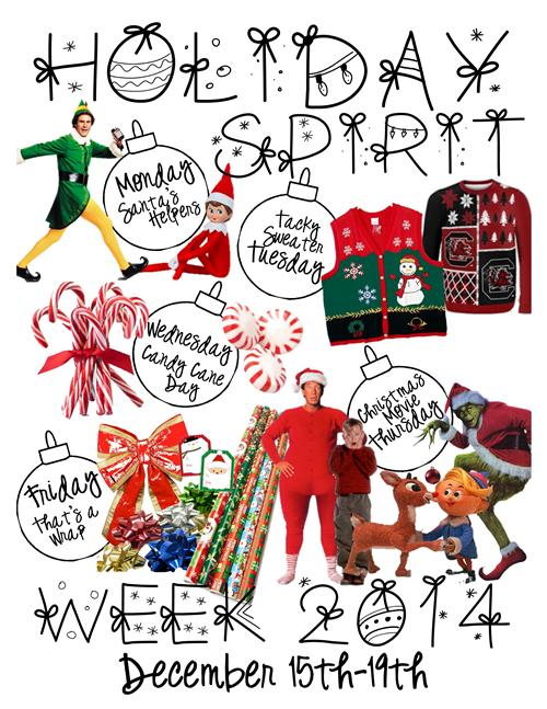 Holiday Spirit Week Holiday Spirit Week December